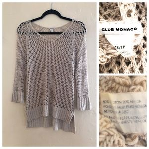 Club Monaco Crochet Sweater